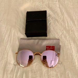 💕Ray Ban Pink Mirrored Round Sunglasses